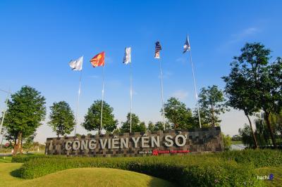 Điểm hẹn mùa thu tại công viên Yên Sở