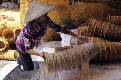 Làng nghề đan cỏ tế ở Lưu Thượng