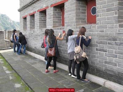Vạn Lý Trường Thành dành chỗ cho du khách vẽ bậy