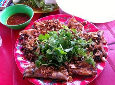 Xuýt xoa với cá đuối nướng Đồng Dương
