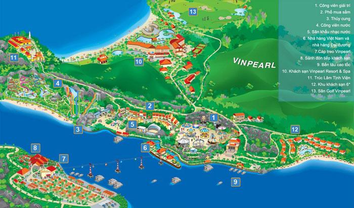 Sơ đồ tổng thể Vinpearl Land Nha Trang
